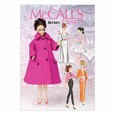 McCall's 7301 Sewing Pattern to MAKE Teenage Doll Clothes - Sindy Barbie