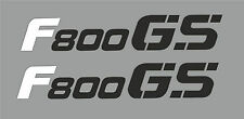 Aufkleber für BMW F800GS Tank Verkleidung F 800 GS / weiß-schwarz