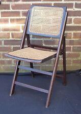 Vintage Retro Wooden Folding Chair Wood School Desk Chair Kitchen Garden Seat