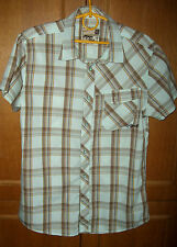 cool Rip Curl mens casual shirt Size M chest 40''38 light blue brown check