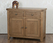 Chunky Solid Oak Dorset Country  2 Door 2 Drawer Sideboard / Cabinet / Cupboard