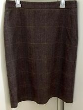 Ladies OJAY Brown Wool Blend Fully Lined Skirt. Size 8. As New