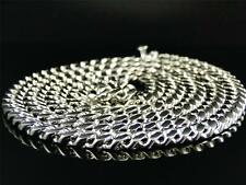 """Mens White Gold Finish Miami Cuban Link Chain Necklace 7mm 30"""""""