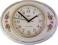 1492501F Keramik Küchenuhr, Chippendale rosen  Goldrand mit Fehler, Rabatt  Funk