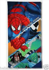 "BOY'S FULLY LICENCED MARVEL ""SPIDERMAN"" QUICK DRY BATH/BEACH TOWEL 70CMX140CM"