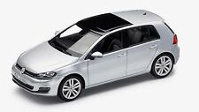 GENUINE VW GOLF MK7 4 DOOR REFLEX SILVER METALLIC 1:43 SCALE DIECAST MODEL CAR