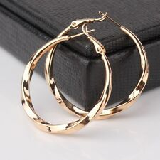 Luxury 18k gold filled vintage amazing engagement NICE hoop earring