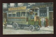 MOTORING Transport London Motor Bus Used 1908 PPC