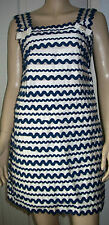 FRENCH CONNECTION Navy Cream Layered Sleeveless Lined Party Dress Size 10  c12
