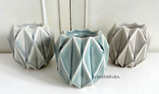 Set 3 Diamond Tea Light candle Holder Ornament Ceramic Modern contemporary