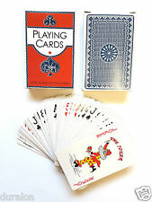 2Deck of Professional Plastic Coated Playing Cards Bridge Size 52 cards pp Blue