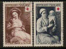 FRANCE SG1191/2 1953 RED CROSS FINE USED