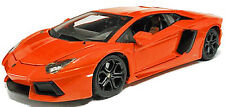 Burago Lamborghini Aventador LP700-4 Orange 1:18 Scale Diecast Model Car
