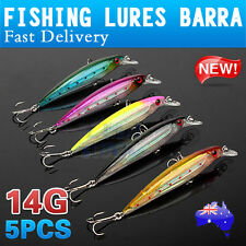 5X Top Quality Diving Fishing Lures BARRA 11cm Long Flash Minnow Mackeral Jack