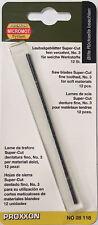 Proxxon 12 x Scroll saw blades 34tpi 28118 / Direct from RDGTools