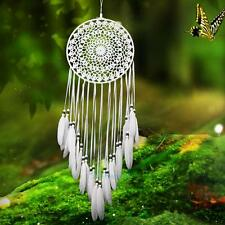 Handmade White Dream Catcher with Feathers  Wall Car Hanging Decoration Ornament