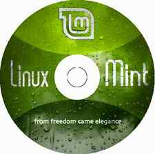 "Latest New Release Linux Mint 18 Cinnamon ""Sarah"" 32 Bit BOOTABLE DVD"