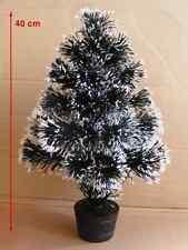 2x Weihnachtsbaum Tannenbaum 40 cm mit Beleuchtung Glasfaser