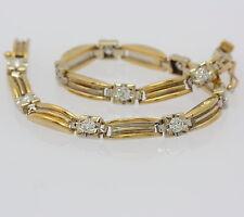 Brillant Armband in aus 750 18kt Gelb Weiß Gold mit Brillianten Diamant Armreif