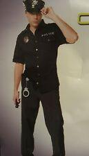 Men's Policeman  police uniform cop costume party/halloween