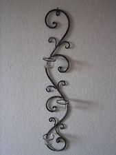 Wandkerzenhalter mit 3 Glas-Windlichtern, ca. 75 cm