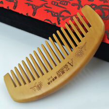 Portable Natural Anti-static Health Care Wide Tooth Hair Silky Peach Wooden Comb