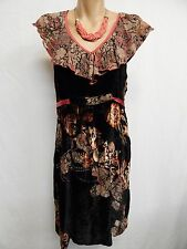 CATELYST SIZE 10 DESIGNER,NEW ZEALAND MADE FUNKY BOHO SILK BLEND DRESS