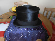 Vintage Fox Hunting Lock & Co Quality Black Top Hat size 7