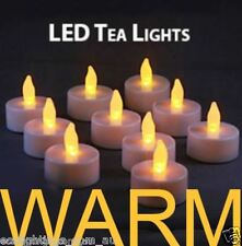 60 X LED TEA LIGHT TEALIGHT CANDLE FLAMELESS WEDDING DECORATION BATTERY INCLUDED