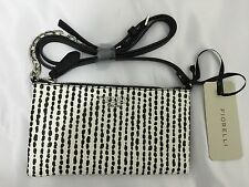 Fiorelli Dakota Small Acrossbody Black White Snake Ladies Handbag Genuine FH8184
