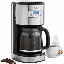 VonShef 14 Cup Digital Filter Coffee Maker Machine Programmable Automatic 1.8L