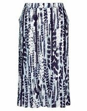 Autograph Blue Navaho Lace insert Maxi skirt 100% cotton + Lined 14 + pockets