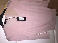 Women's Ted Baker Pink Aniko Scalloped Detail Top Size 2