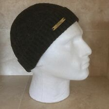 POLO RALPH LAUREN 'ALPACA'OLIVE HEATHER CLASSIC CUFF BEANIE WITH LOGO PLAQUE NEW