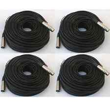 4 lot 100ft xlr male to female 3 pin MIC Shielded Cable audio Microphone Pack