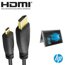 HP Pavilion X2 Laptop PC HDMI Micro to HDMI TV Monitor 2m Gold Wire Lead Cable