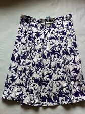 BNWT Ladies Size 20, Purple Multi Fully Elasticated Skirt With Stretch