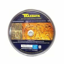 10 Traxdata M-DISC 4.7 GB DVD Full Face White Printable MDISC Archive Spindle