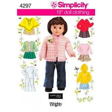 SIMPLICITY SEWING PATTERN 18 INCH DOLL CLOTHING  ONE SIZE   4297