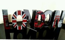 Large London Word Block Wooden Free Standing Wall hanging Ornament Xmas Gift NEW