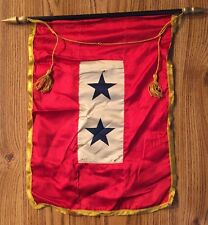WWII 2-Star Blue Star Mothers of America Window Service Flag