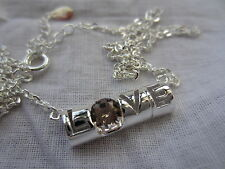 "Light Citrine ""Love""Pendant Sterling Silver with 40 cm chain - NEW Collection"