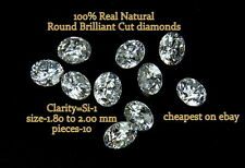REAL 100% Natural Loose 10 Round Diamond SI-1,G-H Color Q7