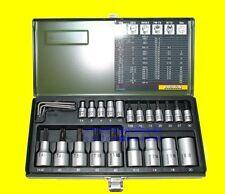 PROXXON 23102 TORX Nuss Satz Innen Aussen Einsätze TX E-Profil 24 teilig Set NEU