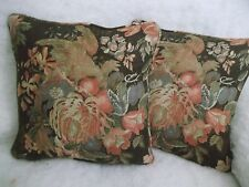 """BANNERMAN FLORAL BY RALPH LAUREN 1 PAIR OF 18"""" CUSHION COVERS - DOUBLE SIDED"""