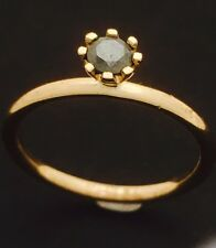"""9ct Yellow Gold """"Spinning""""  Hematite  Stackable Ring 1.5mm Thick NOT PLATED"""