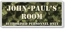Military Camouflage Personalised Kids' Bedroom Door Plaque *ANY NAME / MESSAGE*
