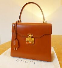 Classic vintage Gucci 'Kelly' Leather Handbag in tan.