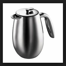 Bodum 8 Cup Columbia French Press Stainless Steel Coffee Maker Double Wall