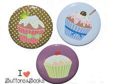 Magnetset 3 Stück-Cupcake- 5 cm groß-für Metallpinnwand oder Kühlschrank Magnet